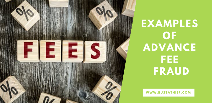 Examples of advance fee fraud