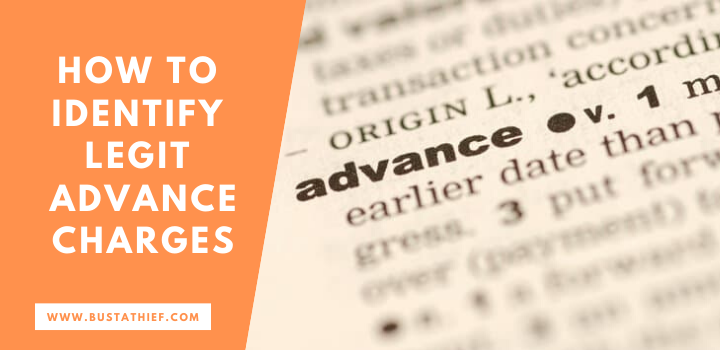 How to identify legit advance fee charges