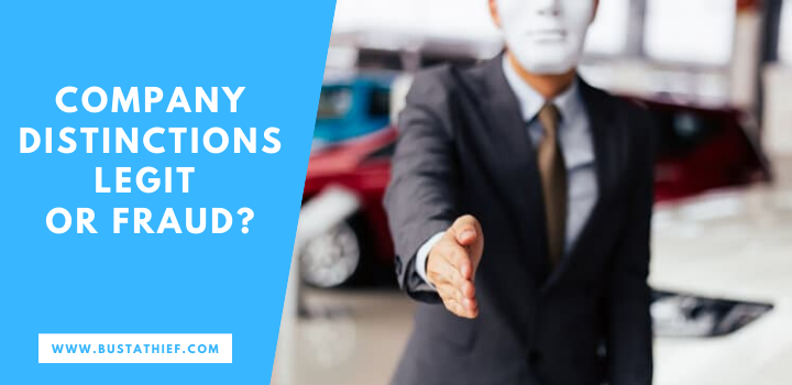 Company Distinctions Legit Or Fraudulent