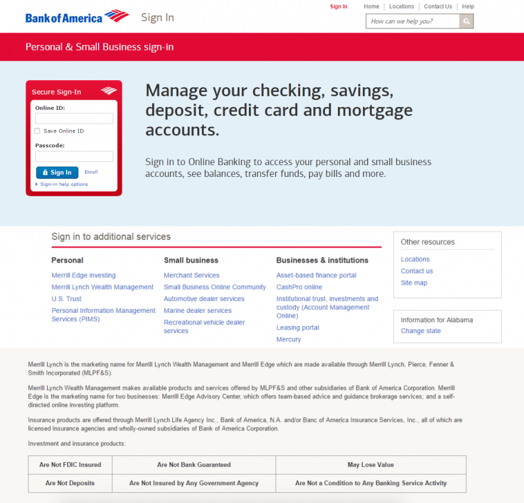 bank of america phishing scam 2