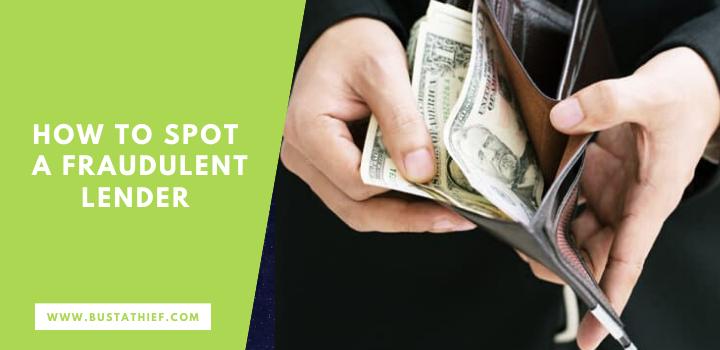 How To Spot A Fraudulent Lender