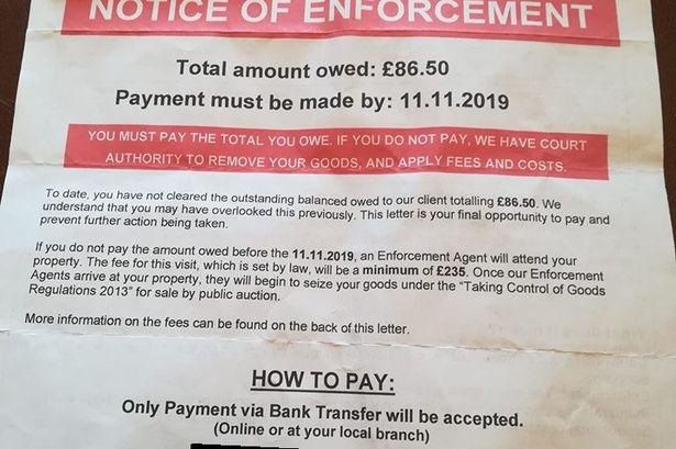 notice of law enforcement letter