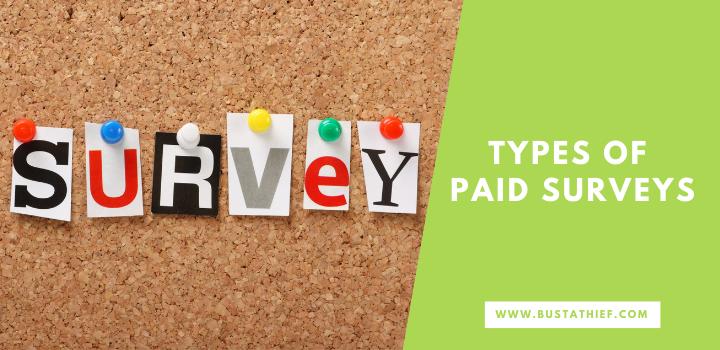 Types Of Paid Surveys