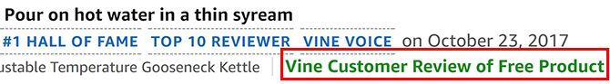 Vine Customer Review